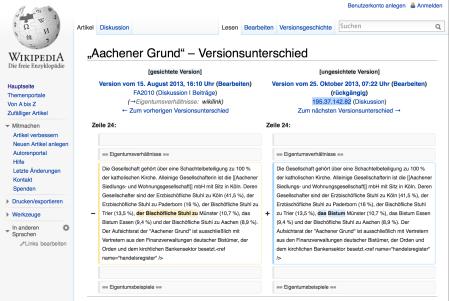 Wikipedia-Änderung